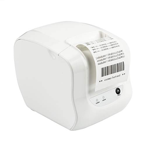 MFLABEL Thermal Receipt POS Professional Printer with USB LAN Serial Port Payment Machine for Home Business, Shop, Supermarket