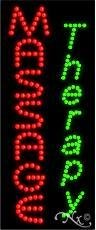 27H x 11W x 1D LED Massage Therapy Sign for Business Displays Vertical Electronic Light Up Sign for Business