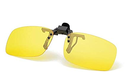 3819d07dc2 YUEMIDAMY Clip-on Yellow Night Driving Polarized Glasses
