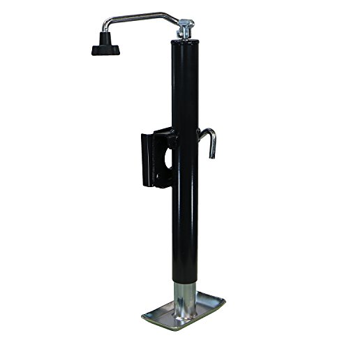 RanchEx 102812 Flange Trailer Jack - Weld Mount Top wind 2,000 lb Lift Capacity 15'' Lift Height by RanchEx