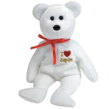 TY Beanie Baby - JAPAN the Bear (I Love Japan - Asia-Pacific Exclusive