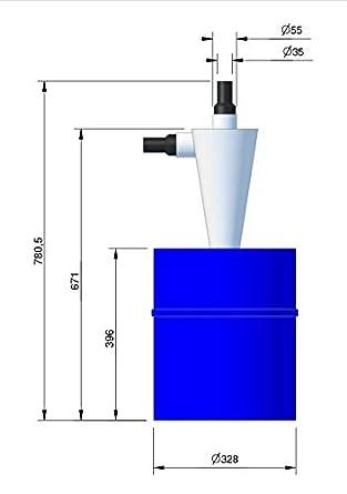 BZT - Separador ciclónico para aspiradora, 30 L: Amazon.es: Industria, empresas y ciencia
