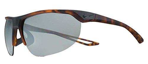 NIKE EV0937-200 Cross Trainer Sunglasses (Frame Grey with Silver Flash Lens), Matte Tortoise ()