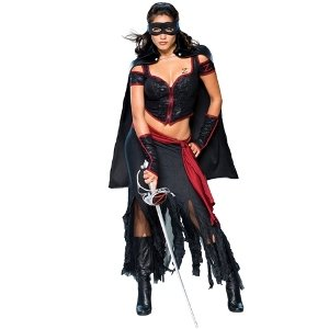 Lady Zorro Costume - Small - Dress Size -