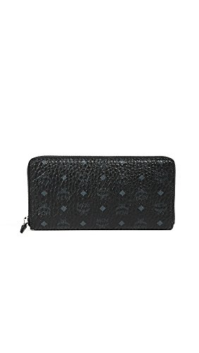 MCM Women's Zip Around Large Wallet, Black, One Size by MCM