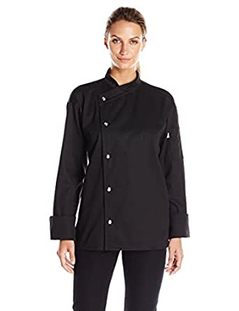 Uncommon Threads Unisex Caliente Chef Coat 5 Snap Mesh Back, Black, X-Small