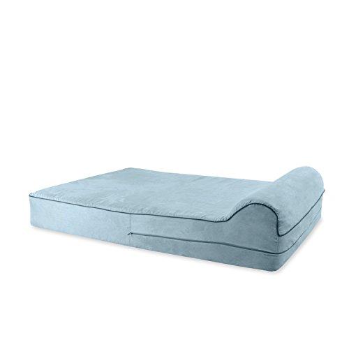KOPEKS-Orthopedic-Memory-Foam-Dog-Bed-With-Pillow-and-Waterproof-Liner-Anti-Slip-Bottom