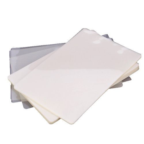 100pcs Clear White Plastic Photo Laminating Pouch Film Generic