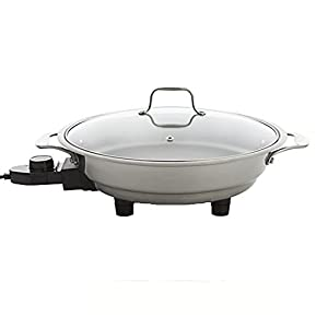 Electric Skillet By Cucina Pro - 18/10 Stainless Steel