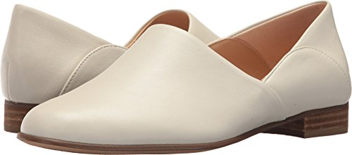 CLARKS Womens Pure Tone Loafer, White Leather, Size 9 (Clarks Leather Loafers)