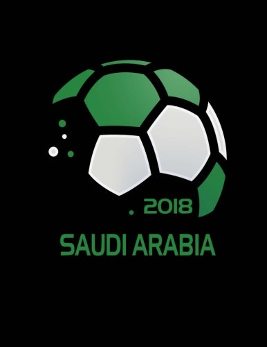 Saudi Arabia Soccer Fan Journal: Blank Lined Composition Notebook 75 Sheets / 150 Pages 8.5 x 11 inch