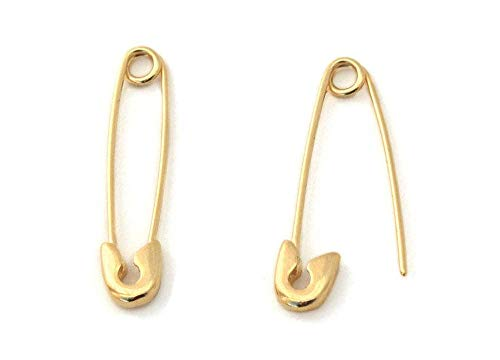 Monte Christo 14K Yellow Gold Safety Pin Earring