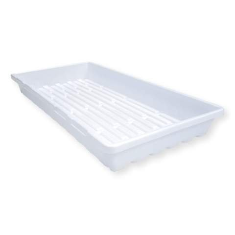 White Seed Starting Trays Extra Strength - 1020 Plant Tray with No Holes, 5 Pack, by Bootstrap Farmer