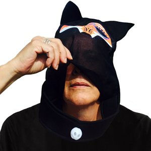 Day of the Dead Fox Mask See-Thru Skull Hood Day of the Dead Halloween
