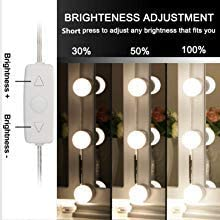 Mirror Not Included Vanity Mirror Light Kit IMAGE 12 LED Light Bulb Hollywood Style Vanity Mirror Light Kit 3.3M 10.8Feet Dimmable Color Temperature Adjustable Lighting Fixture Strip with USB Cable