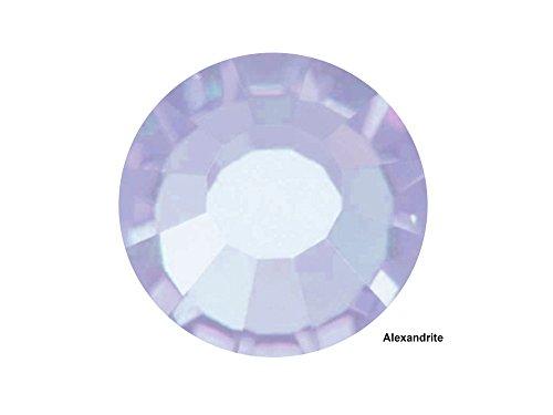 Preciosa Genuine Czech Crystals, 144pcs in size ss20 (5 mm), Alexandrite, Viva Chaton Roses (Viva12 MC Rhinestone Flatbacks), light purple or pale blue, 20ss
