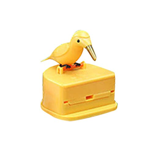 Glumes Bird Toothpick Dispenser Gag Gift Handy Clean Teeth Woodpicker Toothpick Dispenser Plastic Toothpick Dispenser Holder| Home | Housewarming| Kitchen Gift (Toothpick Bird Dispenser)