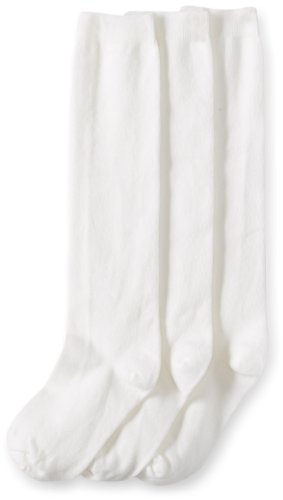 Jefferies Socks Big Girls'  School Uniform Knee High  (Pack of 3), White, -