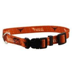 Texas Longhorns Small Adjustable Pet Dog Collar (Small)