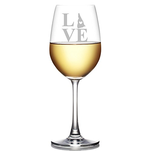 - Love State New Hampshire Engraved 18-ounce Wine Glass
