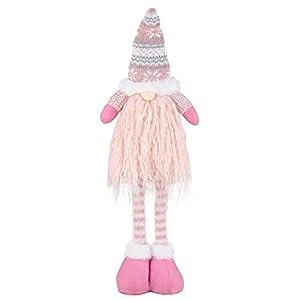 EKKONG Gnomo di Natale Decorazioni Natalizie 57 cm di Altezza, Gnomi Natalizi svedesi Tomte Babbo,Gnomo di Natale Mini Bambola di Stoffa, Regali Nani Scandinavi, Decorazioni Natalizie (Pink) 8 spesavip