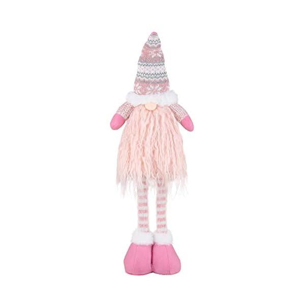 EKKONG Gnomo di Natale Decorazioni Natalizie 57 cm di Altezza, Gnomi Natalizi svedesi Tomte Babbo,Gnomo di Natale Mini Bambola di Stoffa, Regali Nani Scandinavi, Decorazioni Natalizie (Pink) 1 spesavip