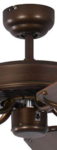Deckenventilator ohne Beleuchtung Potkuri 132 cm f/ür R/äume bis zu 25m/² Geh/äuse Bronze Antik Wendefl/ügel Walnuss oder Walnuss mit Rattaneinlage