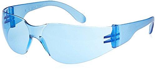 Radians Light Blue Safety Glasses, Scratch-Resistant, Wraparound