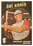 1959 Topps Regular (Baseball) Card# 255 Del Ennis of the Cincinnati Reds VG Condition