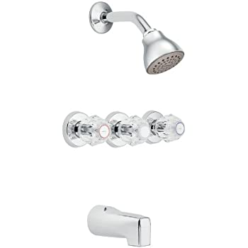 Moen 2995 Chateau Three Handle Standard Valve And Tub And