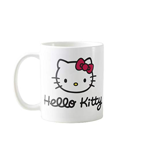 11OZ PREMIUM PORTABLE COFFEE MUGS FUNNY - HELLO KITTY- GIFT IDEAL FOR MEN, WOMEN, MOM, DAD, TEACHER, BROTHER OR SISTER #4507 (Hello Kitty Valentines Day Cup)