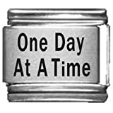 One Day at a Time Laser Italian Charm