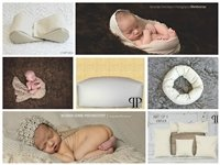 STARTER SET #22 ~ Posey Pillow Rectangulum, Squishy poser, Doughnut poser and Set of 5 Posey positioners ~ NEWBORN PHOTO PROP