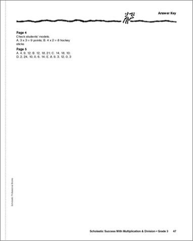 Amazon.com: Scholastic Success With: Multiplication & Division ...