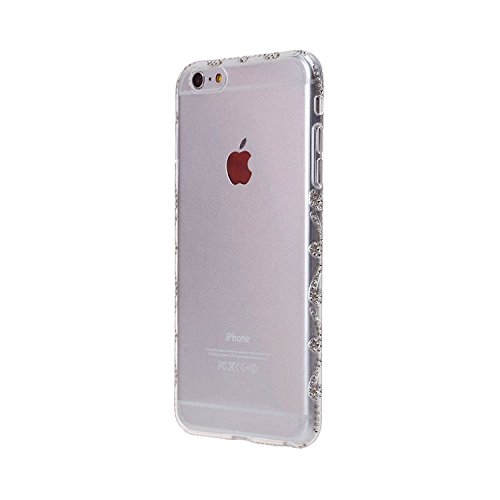 iPhone Case Cover Étui IPhone 6 / 6S, Luxe Glitter Brillant 3D Diamand Crystal Clear motif TPU Soft Case en caoutchouc Silicone Skin Cover Étui pour IPhone 6 / 6S ( Size : IPhone 6 6S )