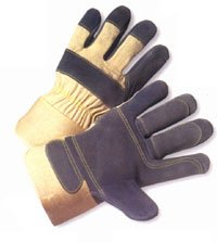 Heavy Duty Double Palm Leather Glove with Kevlar Stitching (Sold by Dozen) - Size ()