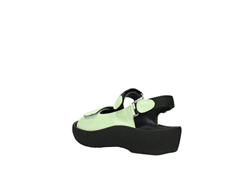 Wolky Womens 3204 Jewel Leather Sandals 375 lime leather