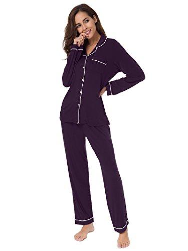 SIORO Pajamas for Women Sleepwear Ladies Soft Loungewear PJ Set Long Sleeve or Short Sleeves
