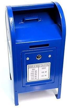 Blue Metal Mailbox Bank