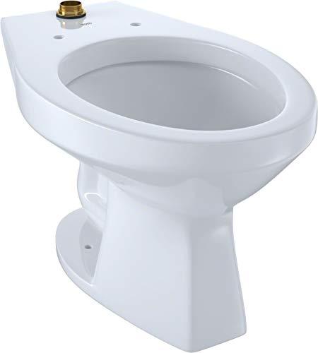 TOTO CT705UN#01 Elongated 1.0 GPF Floor-Mounted Flushometer Toilet Bowl with Top Spud, Cotton White-CT705UN