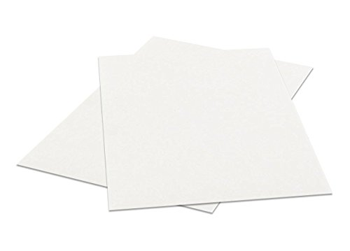 8.5'' X 11'' White Chipboard - Cardboard Medium Weight Chipboard Sheets - 25 Per Pack. by S Superfine Printing