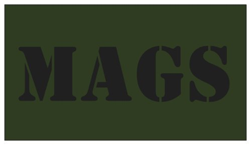 5pcs MAGS OD Green with Black Lettering for