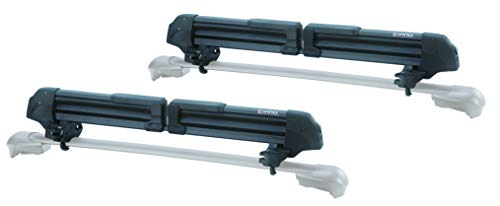 (INNO INA951 Gravity Wide Universal Mount (Fits Rounds, Square, Aero and Most Factory Bars) Holds - (6) Fat Ski or (4) Snowboards Roof Rack)