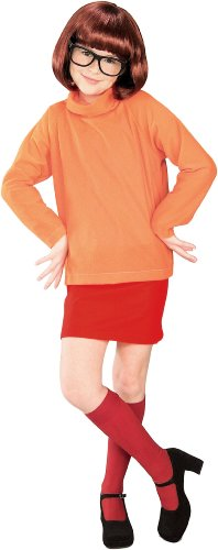 Velma From Scooby Doo Costumes (Velma Child Costume - Large)