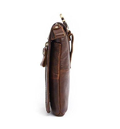 1 Sucastle Bags Briefcases Capacity Vintage Messenger Shoulder Leather Men's Large Design 1 FqvCO