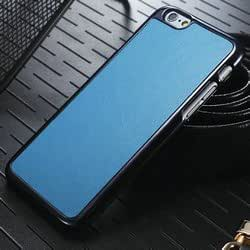 Iphone 6 4.7 Case, Case for Iphone 6, Leather Back Case for Iphone 6 Bumper Frame, Iphone 6 Crazy Horse Leather Case with Screen Protector (Blue)