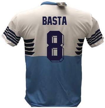 DND de Andolfo Ciro Camiseta Fútbol Lazio Basta 8 Réplica Autorizada 2018-2019 Niño (Tallas 6 8 10 12) Adulto (S M L XL), S (Adulto): Amazon.es: Deportes y aire libre