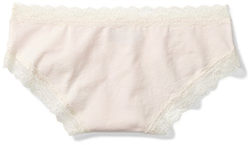 Amazon Brand - Mae Women's Super Soft Cotton Hipster Underwear with Lace, 3 Pack