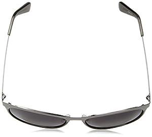 Cole Haan Women's Ch7018s Oval Sunglasses, Sleet, 56 mm