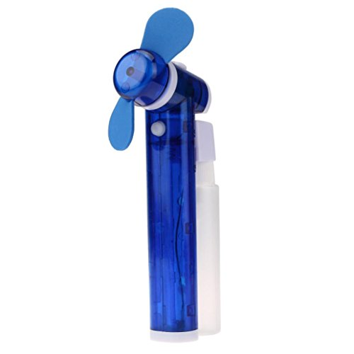 DZT1968 Mini Portable Electric Water Spray Cooling Fan Mist Sport Beach Camp Travel (Blue)